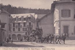 Depart De La Poste Diligence  Carte Neuve Superbe - Saint-Cergues