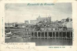 ARGENTINE -  RECUERDO DE ROSARIO - VISTA DESDE EL RIO - Argentine
