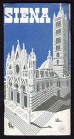 SIENA - Publicité Pubblicità FOLDER BROCHURE 1949 (see Sales Conditions) - Dépliants Turistici
