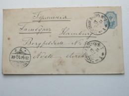 1901 , Bahnpoststempell Auf Ganzsache  Nach Deutschland - 1857-1916 Imperium