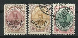 Irán. Reino De Persia. 1922-23. Sellos De 1911-13 Con Sobrecarga Bilingúe. - Irán