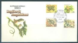AUSTRALIA  - FDC - 19.4.1982 - REPTILES AMPHIBIANS - Yv 767-770 - Lot 18676 - Premiers Jours (FDC)