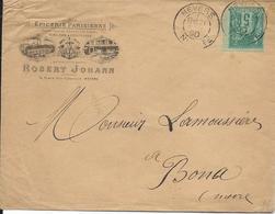 Nevers   1890  - Pub Sur Lettre - Epicerie Parisienne Robert Johann - Automovilismo