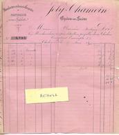 Facture 1896 / 71 CHALONS SUR SAONE / JOLY-CHAMOIN / Manufacture De Casquettes - 1800 – 1899