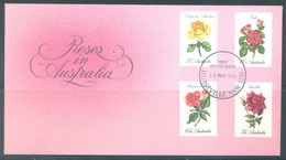 AUSTRALIA  - FDC - 19.4.1982 - ROSES - Yv 772-775 - Lot 18677 - Premiers Jours (FDC)