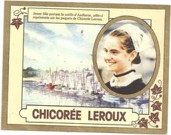 """CALENDRIER"""" CHICOREE LEROUX """" 1985. JEUNE FILLE PORTANT LA COIFFE """"D'AUDIERE"""" , Celle-ci Representee Sur Les Paquets De - Petit Format : 1981-90"""