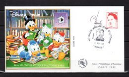 """""""  DISNEY 92 /  CNEP / ONCLE PICSOU """" SIGNEE Sur Enveloppe Commémorative De 1992 N° YT 2773 Parf état - CNEP"""