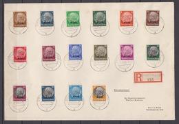 II.WK Elsaß R-Satzbrief (prov. RZ Straßburg) Mit 1/16 O 5.10.42 Nach Berlin (rs.Ak-o) - Occupation 1938-45