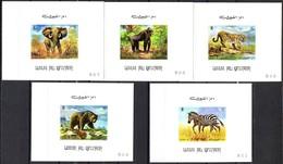 Umm Al Qiwain Blockmarken Mi. 478 / 482  Wildtiere **/MNH - Gibier