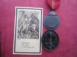 Médaille Campagne De Russie 1941/42 Insigne Bléssés Faire-Part Décés - 1939-45