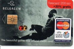 Télécarte Belgique Be76 Eurocard MasterCard Bank Banque - Football Soccer UEFA Euo 2000  Phonecard  (G 578) - Belgique