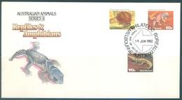 AUSTRALIA  - FDC - 16.6.1982 - REPTILES AMPHIBIANS - Yv 776-778 - Lot 18678 - Premiers Jours (FDC)