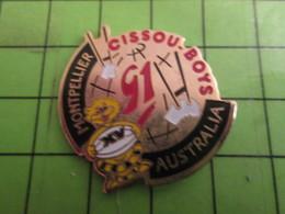 312b Pins Pin's / Rare & De Belle Qualité  THEME : SPORTS / RUGBY CISSOU BOYS MONTPELLIER AUSTRALIA - Rugby
