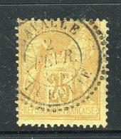 Rarissime N° 92 Cachet Perlé De Cavalle - Signé Calves - 1876-1898 Sage (Type II)