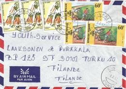 Congo 1987 Kinkala  Orange Trumpetvine Pyrostegia Venusta Toy Cycling Wheel Cover - Congo - Brazzaville