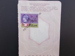 TIMBRES FISCAUX.20 ET 315 FRANCS . - Steuermarken