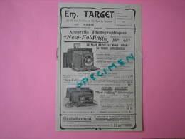 Appareils Photographiques TARGET  PARIS Catalogue 8 Pages 13X19 TBE - Appareils Photo