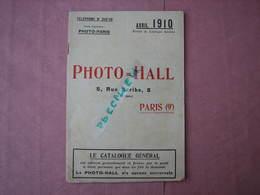 PHOTO  HALL 1910 Catalogue 32 Pages 10X24  TBE Voir Photos - Appareils Photo