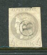 Rarissime N° 41B Oblitéré Lettre De Facteur B - Signé Calves - Cote 1100 Euros - 1870 Emissione Di Bordeaux
