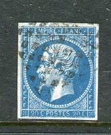 Rare N° 14A Cachet Sarde - Signé Calves - 1853-1860 Napoleon III