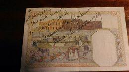 Dany Robin (petit Mot Adressé à Dany Robin Sur Billet De Banque) 50 Francs Algérie - Autographes