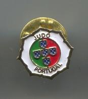Portugal Judo Federation - Vintage Pin, Badge, Abzeichen - Judo