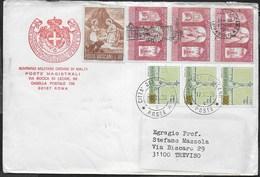 BUSTA INTESTATA S.M.O.M VIAGGIATA CON AFFRANCATURA VATICANO 1986 PER TREVISO - Sovrano Militare Ordine Di Malta