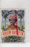 16- COGNAC- ETIQUETTE RHUM BRIETTA- VVE BRIERE & SES FILS - Rhum