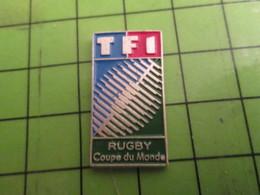 412a Pins Pin's / Rare & De Belle Qualité  THEME : SPORTS / RUGBY COUPE DU MONDE 1991 TELE TF1 - Rugby