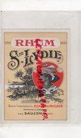 17- SAUJON- ETIQUETTE RHUM SAINTE LYDIE- RICHARD & PAILLOUD-DOMAINE DU MORTIER - Rhum