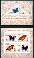 COSTA D'AVORIO 2012** - Farfalle / Butterflies - 2 Block MNH IMPERFORATI, Come Da Scansione. - Farfalle