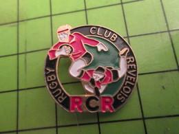 412B Pins Pin's / Rare & De Belle Qualité  THEME : SPORTS / RUGBY CLUB REVELOIS REVEL RCR - Rugby
