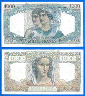 France 1000 Francs 1945 31 May Prefix Y Minerve Mercure Que Prix + Port Grand Billet Frcs Frc Paypal Skrill Bitcoin OK - 1871-1952 Circulated During XXth