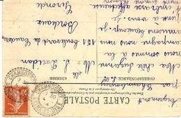 1914- C P A  Affr. 10 C Oblit. Facteur-boitier De CHAMBOURCY / SEINE-ET-OISE ( Yvelines ) - Marcofilie (Brieven)
