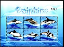 PALAU 2009** - Delfini / Dolphins - Block Di 6 Val. MNH, Come Da Scansione., - Delfini
