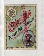 ETIQUETTE RHUM CECILIA - MARTINIQUE GRAND AROME VIEUX- P. BOFILS HAVRE - Rhum