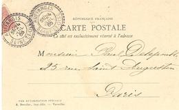 1905- C P A  Affr. 10 C Oblit. Facteur-boitier D'AUFFARGIS / SEINE-ET-OISE ( Yvelines ) - Marcofilie (Brieven)
