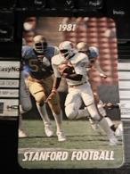 19830) STANFORD FOOTBALL TICHET ? 1981 FORMATO 6 X 9 CIRCA - Trading Cards