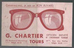 Buvard Opticien Breveté De L'enseignement Technique G.Chartier Tours - Blotters