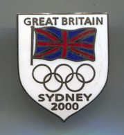 OLYMPICS OLYMPIADE COMMITTEE - Great Britain, Sydney , Vintage Pin, Badge, Abzeichen, Enamel - Olympic Games