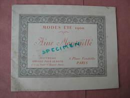 CHAPEAUX - COIFFES 1900 Ainé-Montaillé Superbe Catalogue 16 Planches 128 Modèles Env. TBE - Fashion