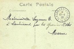 17-1-1920 - C P A  De Versailles Affr. 10 C Oblit. VERSAILLES-CONGRES  18 - Marcofilie (Brieven)