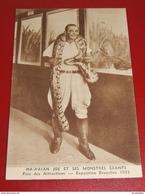"""BRUXELLES EXPOSITION 1935 - """" Hawaian Joe Et Ses Monstres Géants """"  Au Parc Des Attractions - Anhée"""