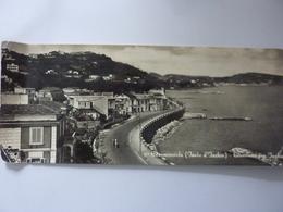"""Cartolina Viaggiata Panoramica """"117 - CASAMICCIOLA ( Isola D'Ischia ) - Litoranea Pere Ischia"""" 1957 - Italia"""