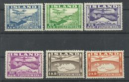 ISLANDIA YVERT AEREO  15/20    MH  * - Poste Aérienne