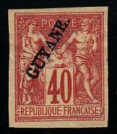 GUYANE - N° 13 - SAGE - 40c - Signé Brun (sans Gomme). - Guyane Française (1886-1949)