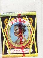 64- NAVARRENX- ETIQUETTE RHUM CAVES LACROUTS - Rhum