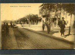 CPA - HOMS (Syrie) - Grande Rue Du Sérail, Animé - Syrie