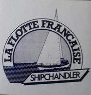 Autocollant La Flotte Française SHIPCHANDLER – Mer - Voilier – Marin - Aufkleber