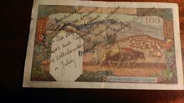 Dany Robin (petit Mot Adressé à Dany Robin Sur Billet De Banque) 100 Francs Algérie - Autographs